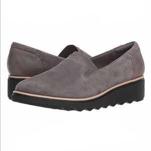 Clarks Sharon Sail Collection Suede Slip-On Shoes